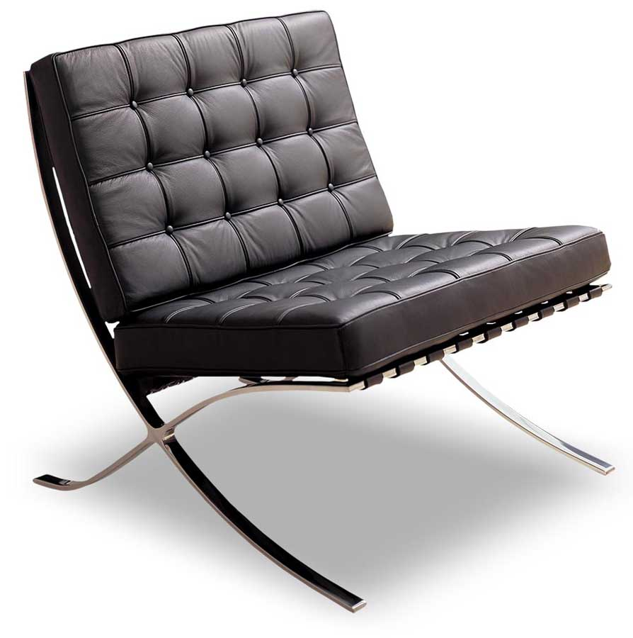 Dark modern chairs for a living room design