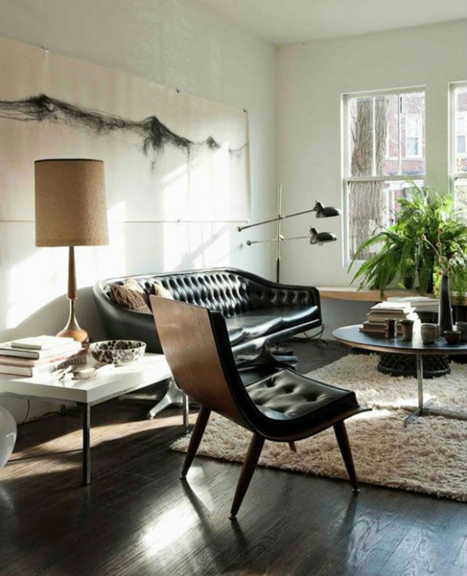 Living Room Ideas - Modern Leather Chairs