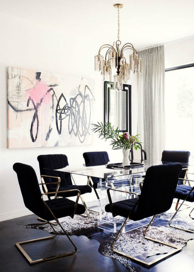 Dining room design ideas with modern chairs for Dining room decorating ideas modern