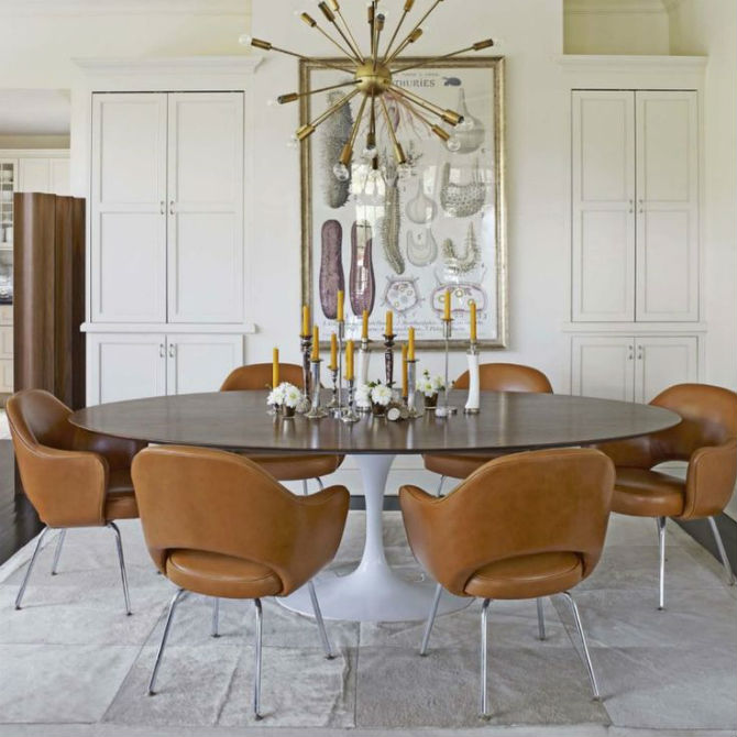 dining room design ideas: leather dining chairs
