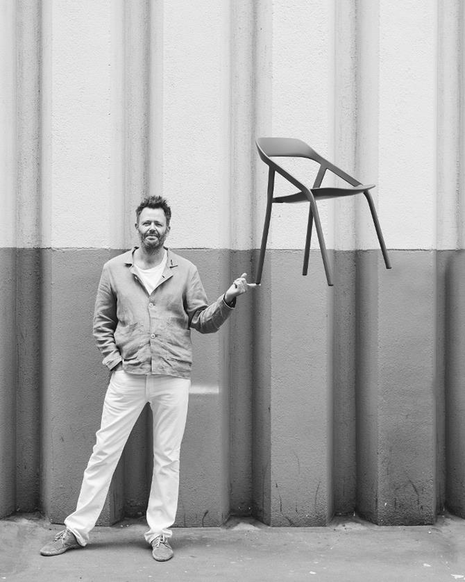 Michael-Young-and-LessThanFive-Chair  Metal chairs designed by Michael Young Michael Young and LessThanFive Chair photo by Phil Sharp Copy
