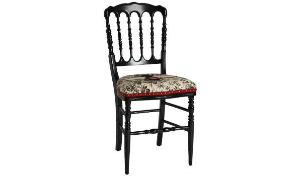Gucci Design Limited Edition Black Chair on 1stdibs