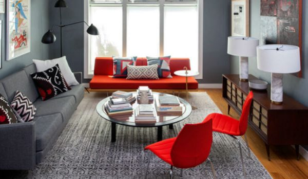 How to Decor your Living Room with a red chair