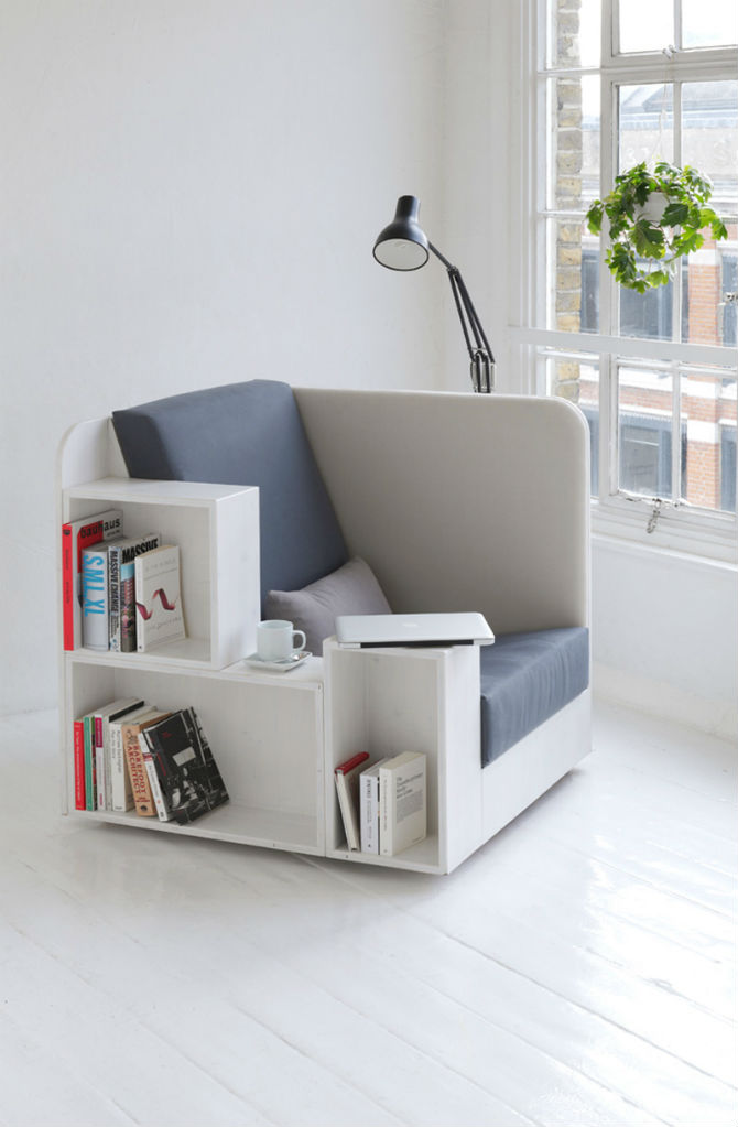 What About a Bookshelf Chair Design For your Home Library?