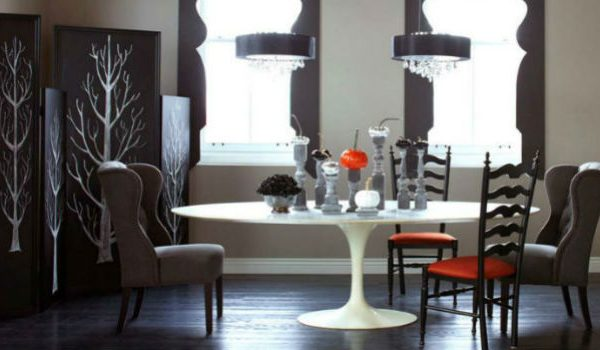 7 Upholstered Chairs For the Creepiest Halloween Dining Room Decor