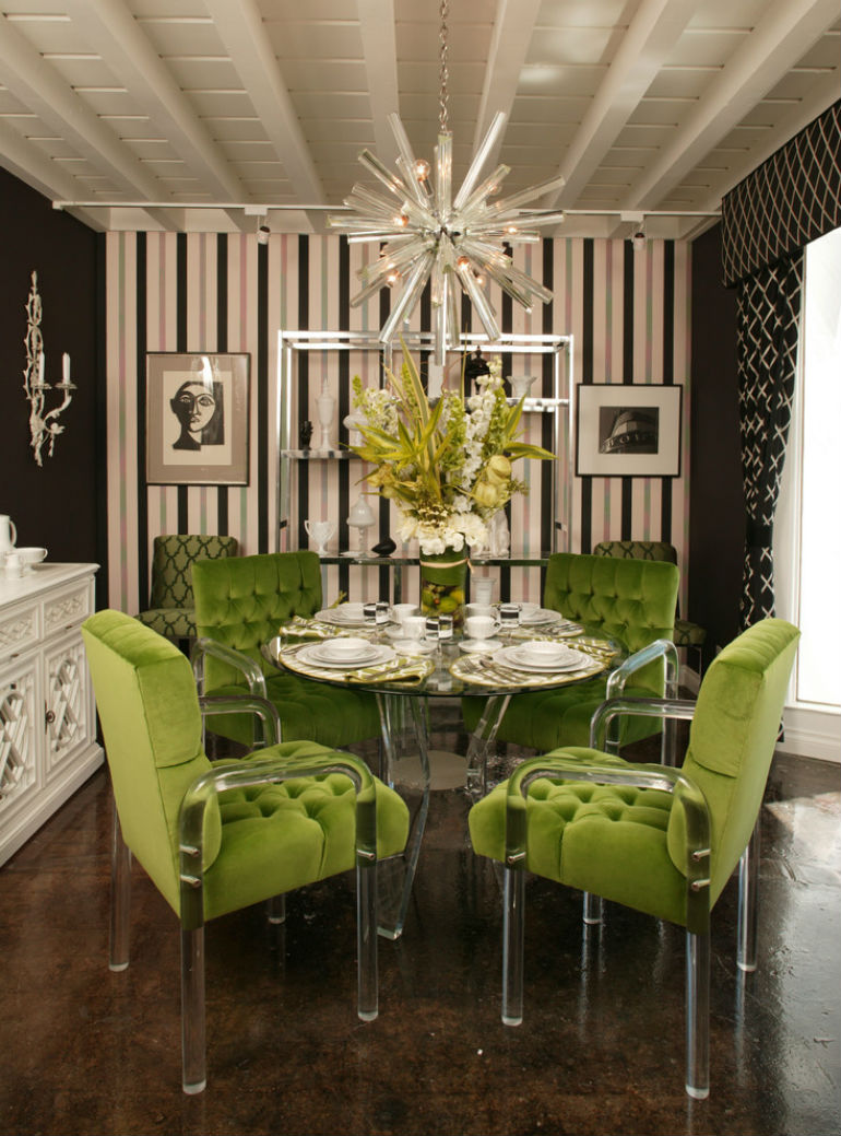 How to decorate dramatic dining rooms with smart dining chairs - How to decorate a dining room ...