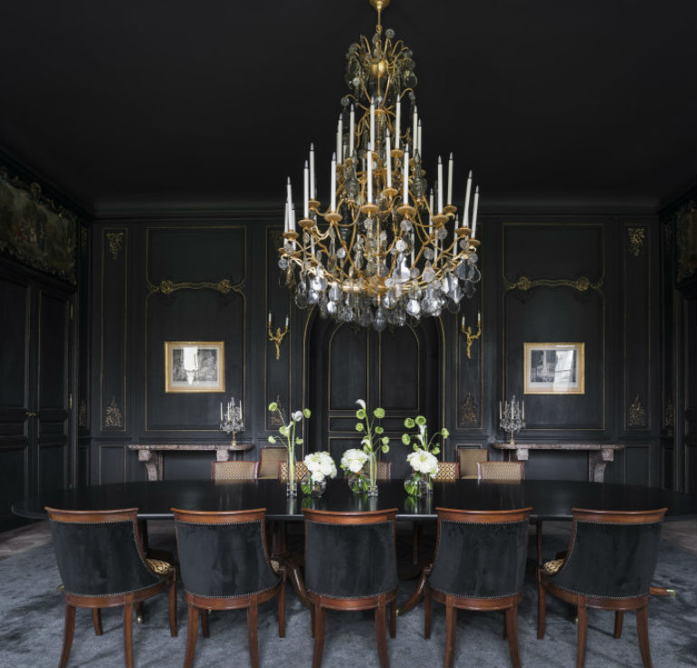 Dark Dining Room: How To Decorate Dramatic Dining Rooms With Smart Dining Chairs