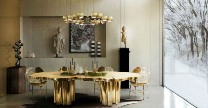 striking christmas decors with modern dining room chairs