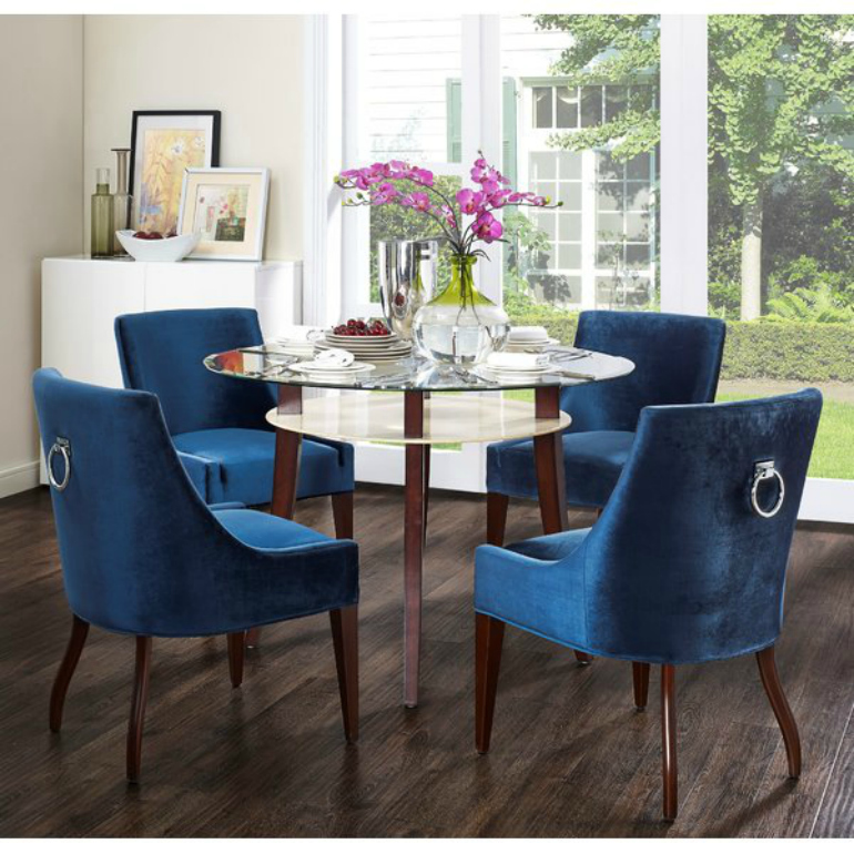 Lapiz Blue: The Pantone Color You Need For Your Velvet Armchair velvet armchair Lapiz Blue: The Pantone Color You Need For Your Velvet Armchair Dover Velvet Side Chair