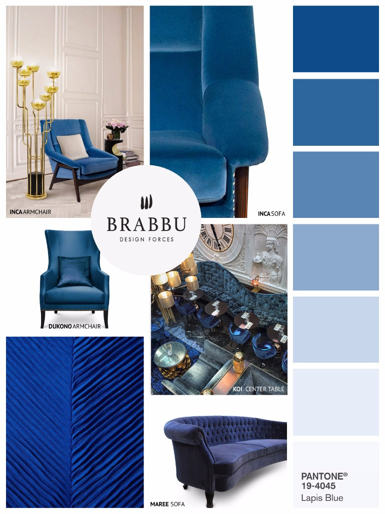 Lapiz Blue: The Pantone Color You Need For Your Velvet Armchair velvet armchair Lapiz Blue: The Pantone Color You Need For Your Velvet Armchair How To Create A Dining Room Design With Pantone    Spring Color Trends 5