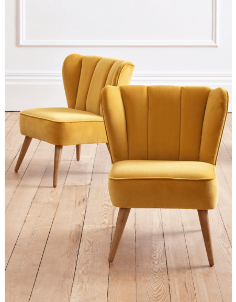 Consider A Corlorful Velvet Chair To Set The Mood For Summer velvet chair Consider A Colorful Velvet Chair To Set The Mood For Summer westbury chair yellow pair