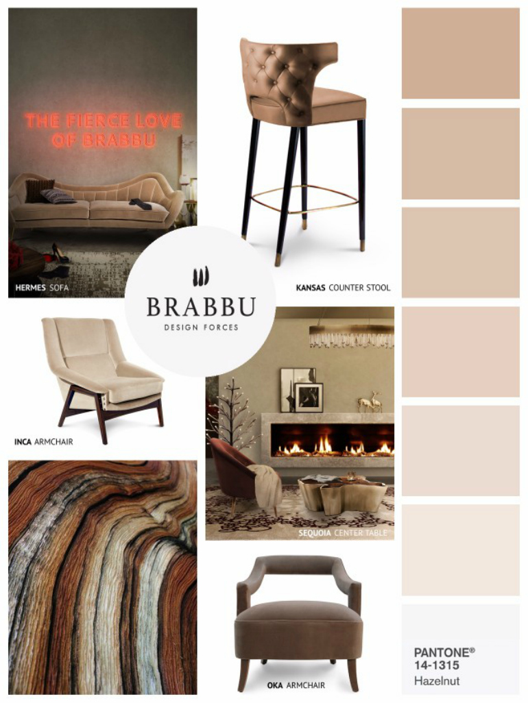 "Why We Love Pantone's Color ""Hazelnut"" for Living Room Chairs living room chairs Why We Love Pantone's Color ""Hazelnut"" For Living Room Chairs 7 Amazing Mood Boards To Inspire Your Spring Home Decor Project 2"