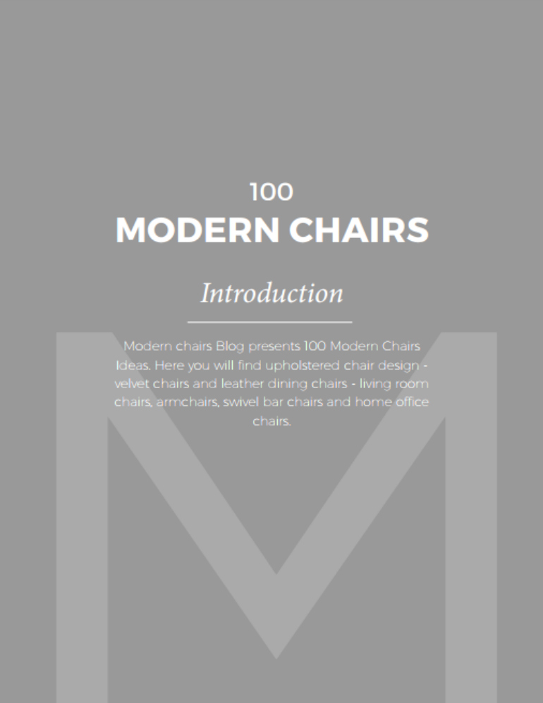 100 Modern Chairs: Your Ultimate Guide To Stylish Seats modern chairs 100 Modern Chairs: Your Ultimate Guide To Stylish Seats Capture1