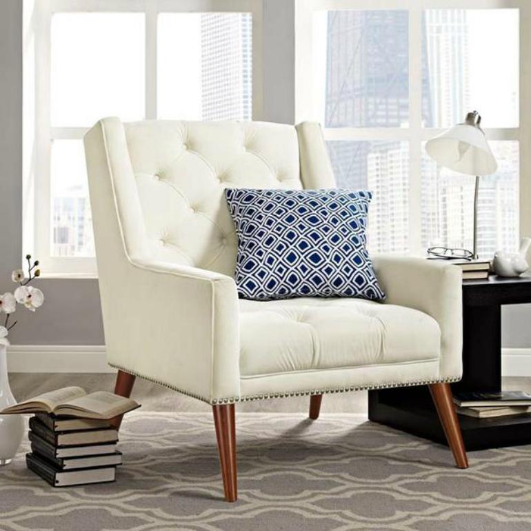 Top 6 Comfortable Velvet Armchairs For Bookworms velvet armchairs Top 6 Comfortable Velvet Armchairs For Bookworms EEI 2306 IVO 5 grande