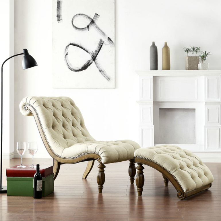 "Why We Love Pantone's Color ""Hazelnut"" for Living Room Chairs living room chairs Why We Love Pantone's Color ""Hazelnut"" For Living Room Chairs TRIBECCA HOME Bellagio Beige Linen Button Tufted Curved Chaise Lounge with Ottoman 9d596c80 97c3 4d1f b152 adb0d13317ba 600"