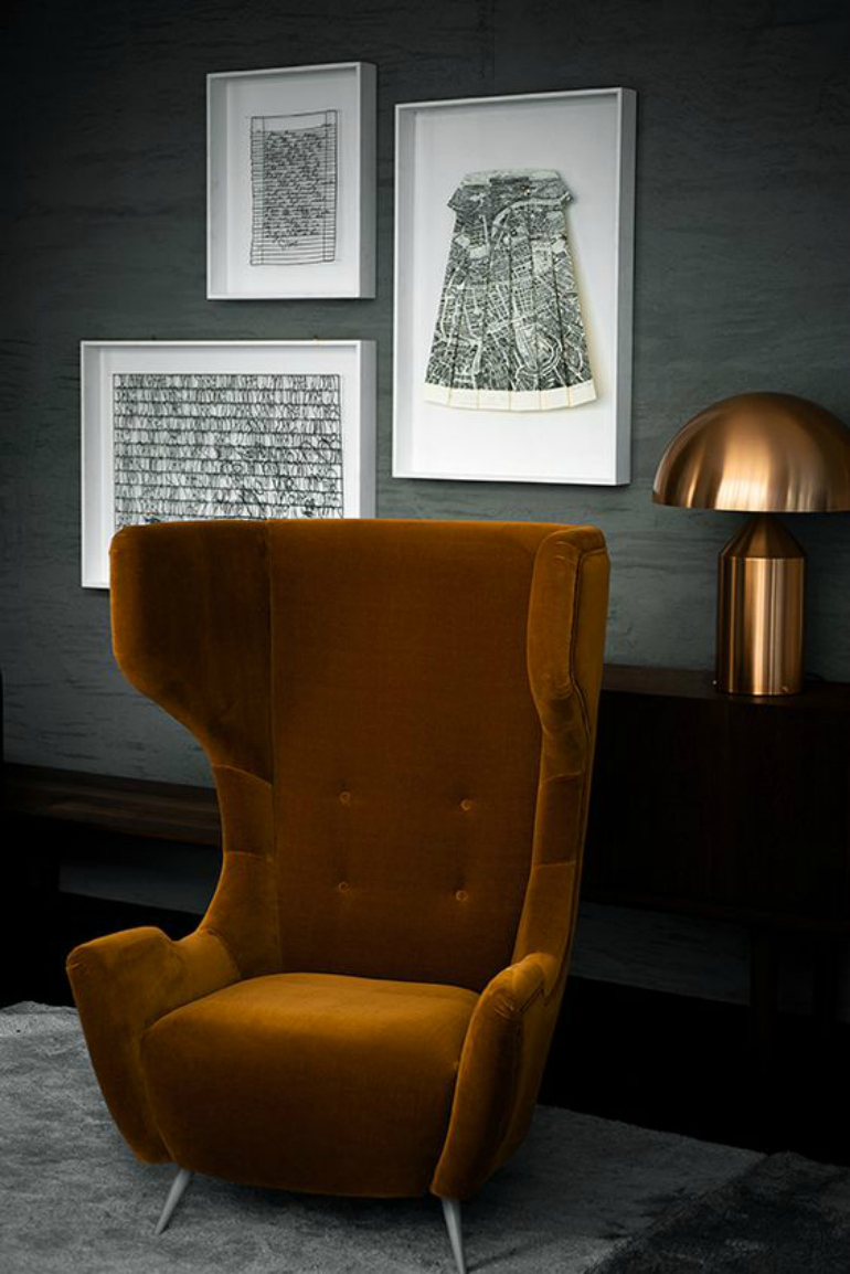 comfortable chairs 9 High-Back  Comfortable Chairs for a trendy modern interior Simple geometric shapes can be a huge success 1