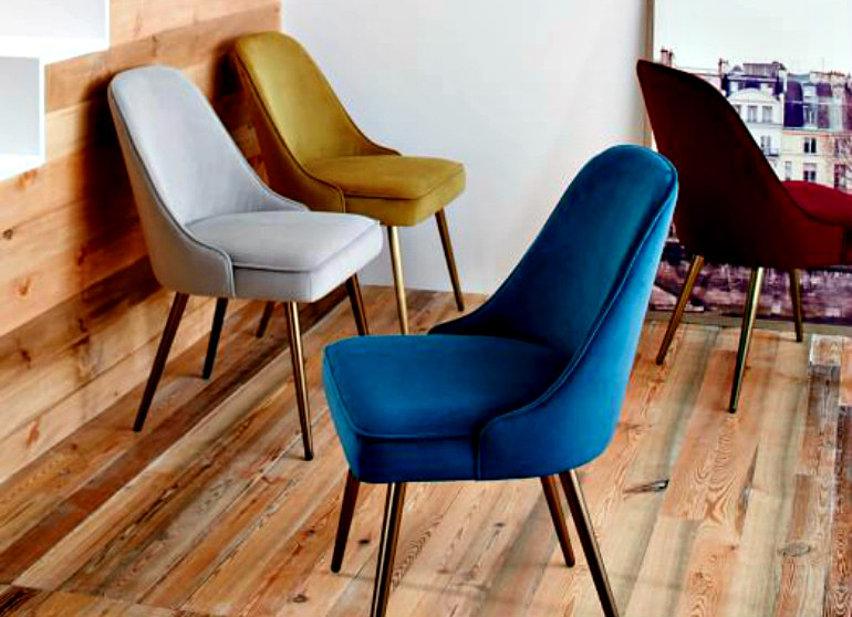Trendy Upholstered Modern Chairs For Your Hotel upholstered modern chairs Trendy Upholstered Modern Chairs For Your Hotel mid century upholstered dining chair velvet c 1
