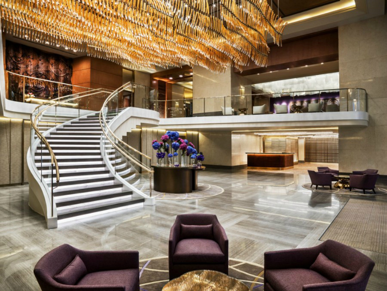 9 Top Modern Chairs From Superb Hotel Lobbies modern chairs 9 Top Modern Chairs From Superb Hotel Lobbies str3121lo 182735 The Foyer Grand Staircase e1457724869542