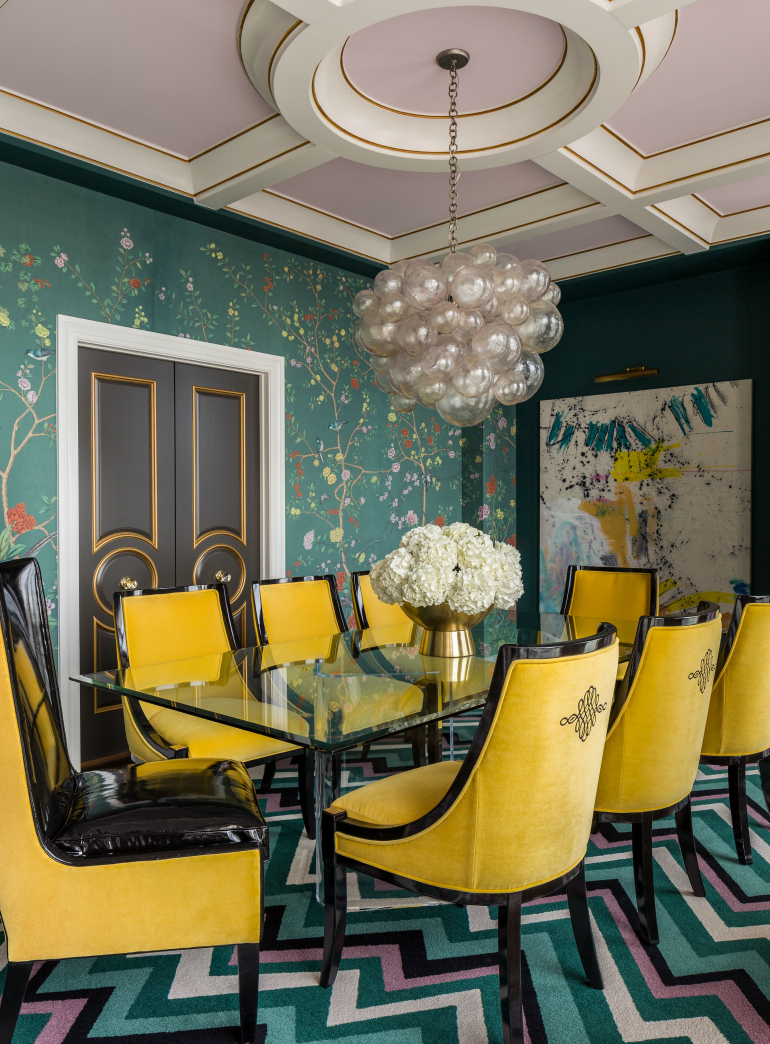7 Rainbow Dining Room Ideas Trendy And Accent Chairs For It