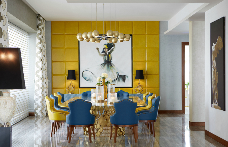 7 Rainbow Dining Room Ideas: trendy and accent chairs for it