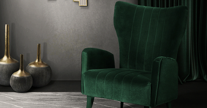 Custom Green Accent Chair Decoration