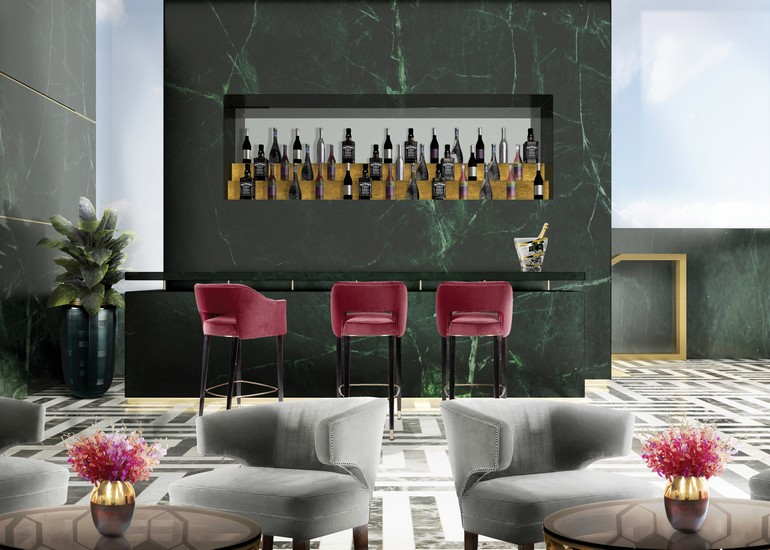 interior design projects, comfortable bar chairs, hotel design, classic style, restaurant design, modern bar chairs, upholstered chairs, top designers, Comfortable Bar Chairs 7 Comfortable Bar Chairs For Contract Projects 7 Comfortable Bar Chairs For Contract Projects 9