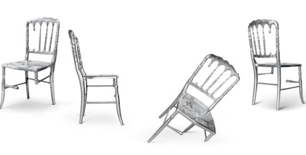 Iconic metallic modern chairs