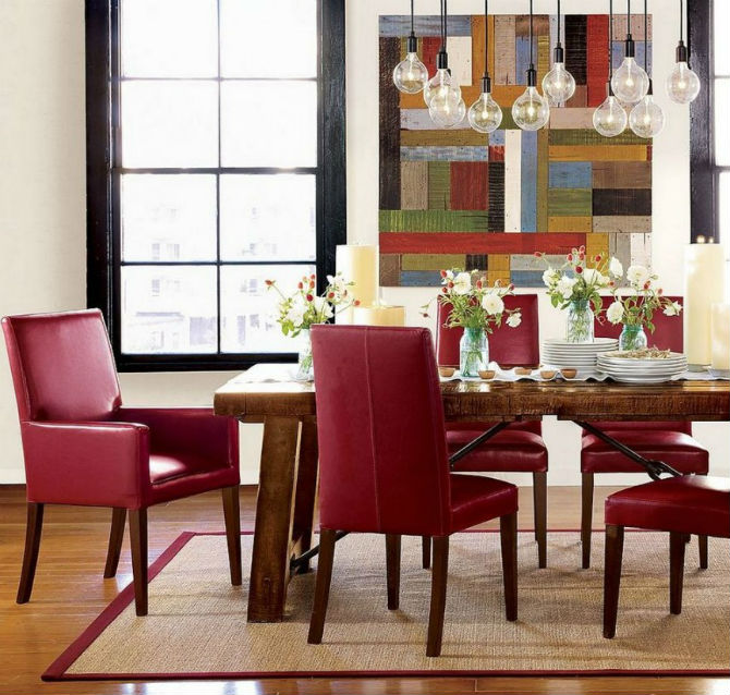 New Fill your Dining Area with Colors: Red Chair Inspiration JP68