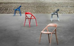 Modern chairs Metal chairs designed by Michael Young carbon fibre