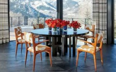 Upholstered Dining Chairs in Peter Marino's Projects (2)