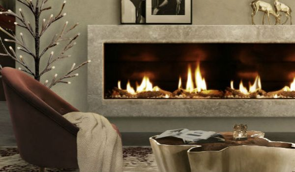 The Best Fireplaces and Velvet Armchair Designs For Cold Days