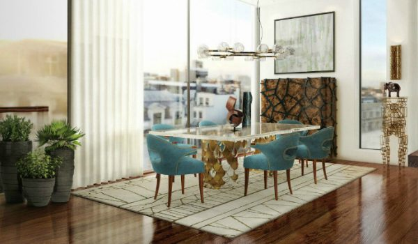 dining chairs How To Pick The Right Fabric Color For Your Dining Chairs BRABBU VILLA dining room 2 600x350