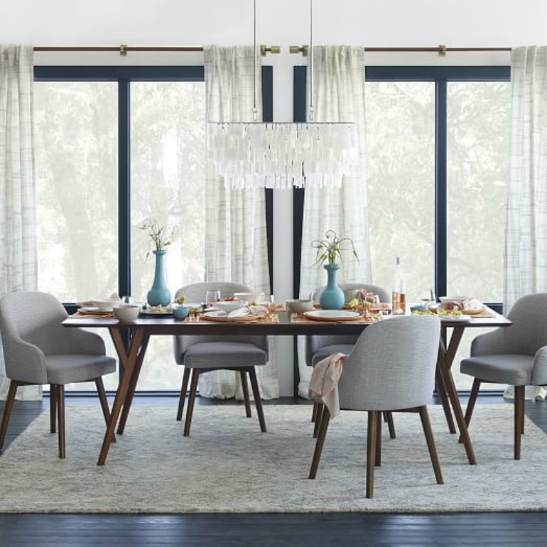 How To Pick The Right Fabric Color For Your Dining Chairs dining chairs How To Pick The Right Fabric Colour For Your Dining Chairs vines wool rug neutral c