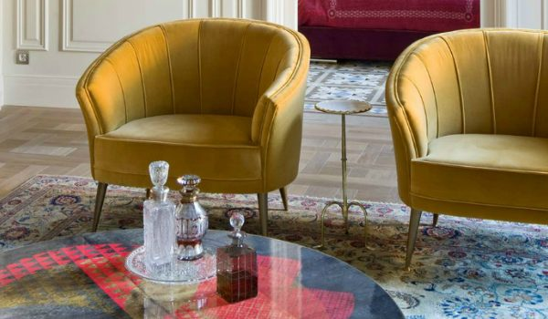 velvet chairs Primrose Yellow: The Perfect Pantone Color For Velvet Chairs Art Apartment in Barcelona 1 HR 1 600x350