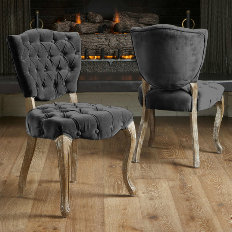 7 Sensational Capitonné Chairs For Your Dining Room capitonné chairs 7 Sensational Capitonné Chairs For Your Dining Room Christopher Knight Home Bates Tufted Charcoal Fabric Dining Chairs Set of 2 42f5014e ff68 408c 8155 68cebc61b6b1 600