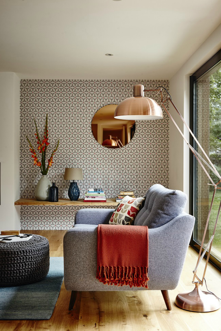 10 Superb Accent Chairs For Small Living Rooms accent chairs 10 Superb Accent Chairs For Small Living Rooms copper living room large floor lamp