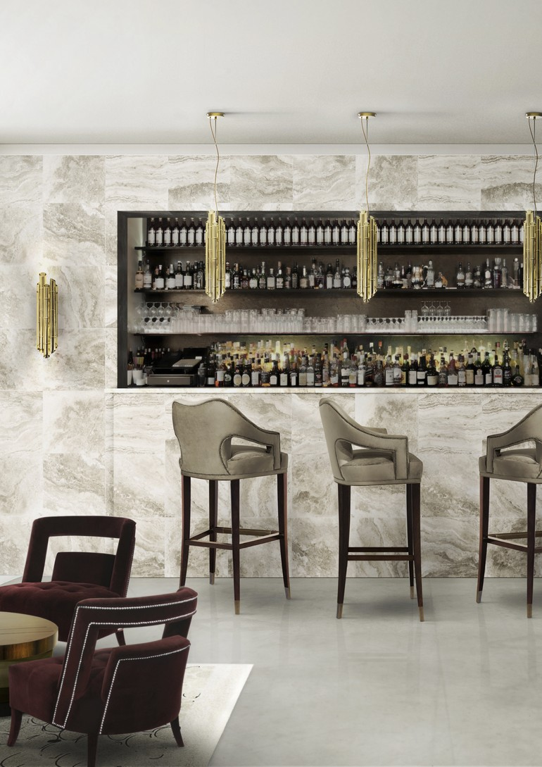 interior design projects, comfortable bar chairs, hotel design, classic style, restaurant design, modern bar chairs, upholstered chairs, top designers,