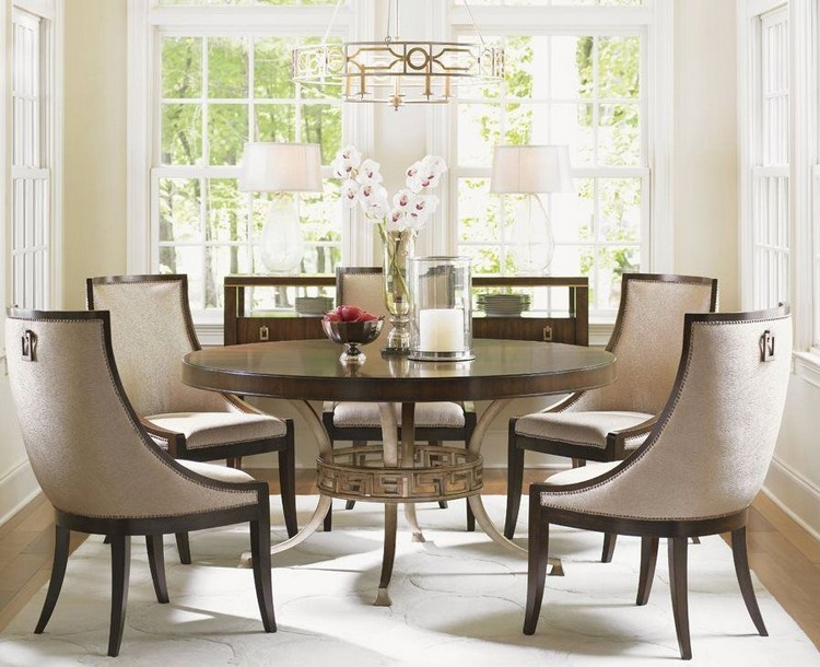 modern chairs Modern Chairs for an Exquisite Decoration Tower Place Talbott Host Upholstered Dining Chair