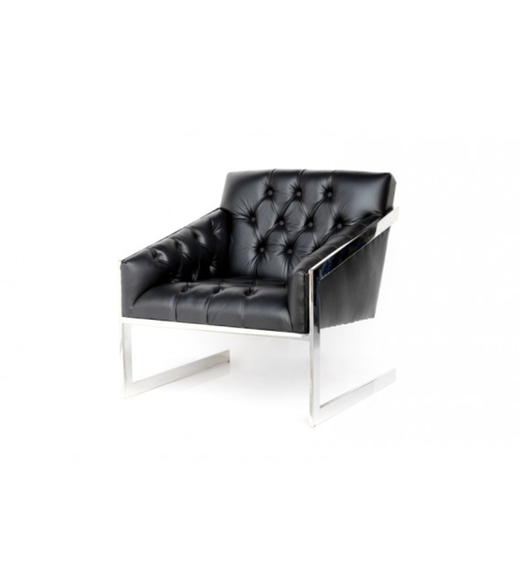 cocolea furniture Cocolea Furniture – A Commanding Collection of Chairs Frederika Black Chesterfield Floating Back Armchair