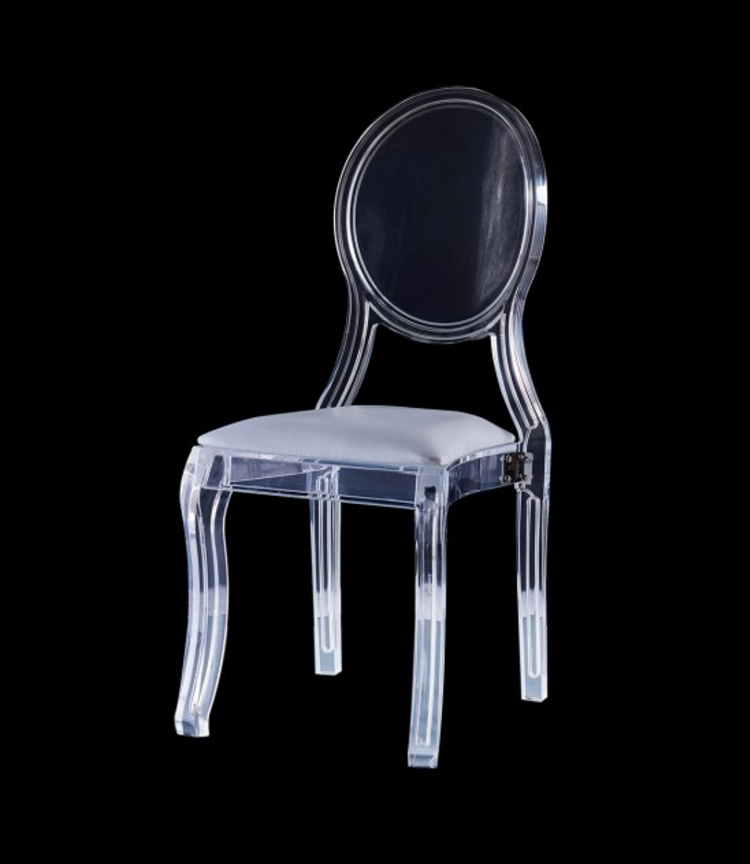 cocolea furniture Cocolea Furniture – A Commanding Collection of Chairs Merriam Lucite Acrylic Chair with Oval Backrest