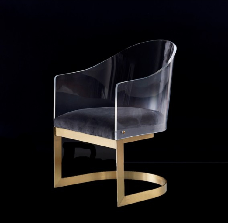 cocolea furniture Cocolea Furniture – A Commanding Collection of Chairs Monty Lucite Acrylic Floating Tub Chair